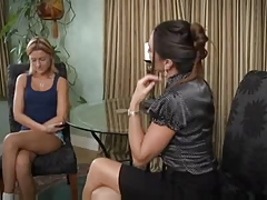 Beautiful Mature Lesbian Seduces Young Girl - Michelle And Ginger Lee