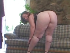 Amazing Phat Bottom Mature BBW Takes BBC