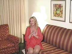 Hot Blonde Granny Cougar Bangs Young Stud