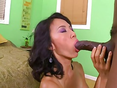 45yr Old Asian MILF Sahara Blue Loves To Sucks And Fuck BBC