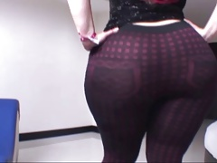A Thick Latina In Sexy Brown Pants N' Without