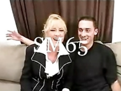 Blonde Milf Bethany Black Stockings SM65