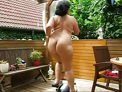 Chubby Mature Workout