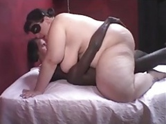 Sexy BBW Handles Two Men