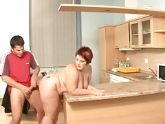 Thick Stepmother With Great Natural Tits And A Guy